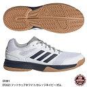 【アディダス】SPEEDCOURT M スピードコートエム/ハンドボールシューズ/adidas(EFU81) EF2623 フットウェアホワイト/カレッジネイビー/ガム