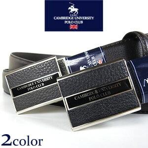 Cambridge University Polo Club フィットバックル レザーベルト 牛革(裏合皮)/色:ブラック 黒、ブラウン 茶/スライド式/フリーアジャスト 【02P03Dec16】 fs04gm