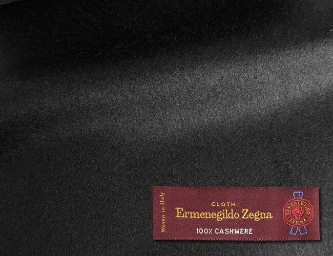 オーダーメイドコート [生地の銘柄] Ermenegildo Zegna [色] ブラック(黒) [柄] 無地 [品質] カシミア100% , 360gr. woven in Italy. [秋冬向け][送料無料]【02P03Dec16】 fs04gm