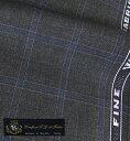 オーダースーツ [ブランド] T.G. di Fabio [色] チャコールグレー(濃いグレー) [柄] 青×白のチェック柄 [品質] ウール100% woven in Biella - Italy [イタリア生地][春夏向け][送料無料]【02P03Dec16】 fs04gm