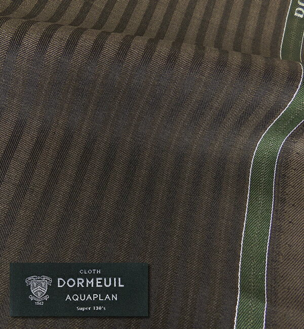 オーダースーツ [ブランド] DORMEUIL ドーメル / AQUAPLAN [色] 濃い茶 [柄] ブロークンヘリンボーン [品質] スーパー130'S ウール 100% ナノ撥水 , woven in England [英ブランド][春夏向け][送料無料]P25Jan15 fs04gm