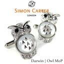【SIMON CARTER】Darwin | Owl MoP/フクロウ 梟 カフリンクス[真鍮・スワロフスキー(半貴石)]【02P03Dec16】 fs04gm