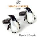 カフリンクス ペンギン / SIMON CARTER Darwin | Penguin真鍮 スワロフスキー 半貴石 オニキス パール母貝【02P03Dec16】...
