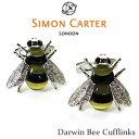 蜂 モチーフ カフス / Simon Carter Darwin Bee Cufflinks真鍮 スワロフスキー 半貴