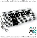 RK RAS Kay gingham check bottle tit wallet (long wallet) [white white ]fs2gm]