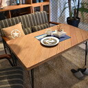 RoomClip商品情報 - ソファダイニングテーブル 幅120cm リビング ダイニングテーブル カフェ LDテーブル 北欧 4人 長方形 木製 アイアン カフェ風 おしゃれ 西海岸 ブルックリン ヴィンテージ インダストリアル 棚付き 食卓 ウッドテーブル 木製 パイン無垢材 天然木 スチール アメリカン