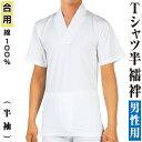 男物 肌着 Tシャツ半襦袢 半袖 高級天竺綿使用 【メール便可】