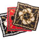 チェーン×タッセル柄シルクプチスカーフ  OK  スカーフ シルク100% バッグ バッグチャーム 持ち手 カバー 夏 ミニスカーフ レディース ギフト プレゼント