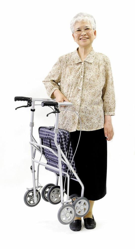 歩行車:か〜るいカート【折りたたみ式手押し車(座椅子付)】