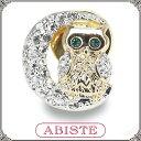 ABISTE(アビステ) ムーンオウルブローチ /クリア 5000046 レディース 女性 人気 上品 大人 かわいい おしゃれ アクセサリー ブランド 誕生日 ギフト プレゼント ラッピング無料