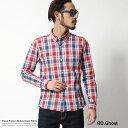 チェックシャツ メンズ 日本製 リネンシャツ 麻 ラミー 長袖シャツ 国産 RD.Ghost 5359