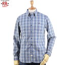 RRL (double RL) Indigo Check Work Shirts ダブルアール ワークシャツ