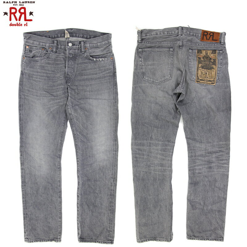 "RRL (double RL) ""SLIM FIT"" Jeans Storm Grey ダブルアールエル スリムフィット ブラック ジーンズ デニム MADE IN USA"