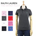 "Ralph Lauren Lady's ""THE SKINNY POLO"" Solid Color Mesh Polo Shirts USラルフローレン レディ..."