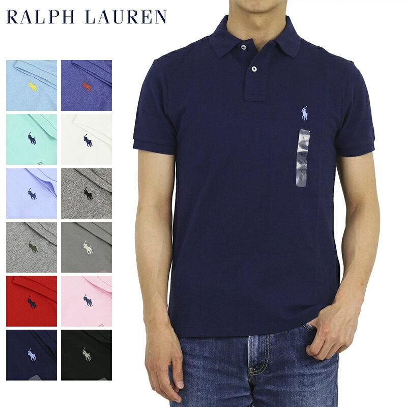 ポロ ラルフローレン カスタム スリム フィット 半袖 カノコ ポロシャツ 無地 ワンポイント POLO Ralph Lauren Men's