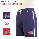 "Ralph Lauren Men's ""FOOTBALL"" Swim Shorts US ポロ ラルフローレン ロゴ刺繍 スイムショーツ (水着)"