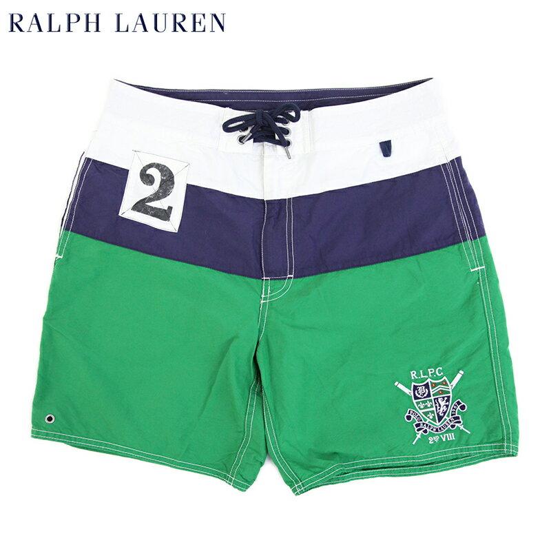 Ralph Lauren Men's Collegiate Swim Shorts US ポロ ラルフローレン エンブレム刺繍 スイムショーツ (水着)