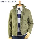 Ralph Lauren Men��s Perry Windbreaker (BASIC OLIVE / NAVY) US �ݥ� ���ե?��� �ե꡼���饤�ʡ� ������ɥ֥졼����...