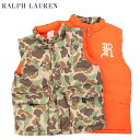 "POLO by Ralph Lauren Boy's ""CAMOUFLAGE"" Reversible Down Vest USラルフローレン ボーイズダウンベス..."