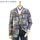 "POLO by Ralph Lauren Men's ""India Madras"" Patchwork Sport Coat USポロ ラルフローレン パッチワ..."