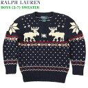 (2-7)Ralph Lauren Boy's(2-7) Ski Sweater ラルフローレン ボーイズ クルーネック セーター