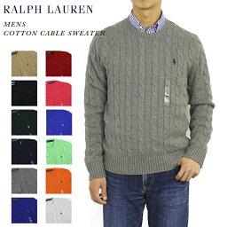 POLO Ralph Lauren Men's Cotton Cable Crew Sweater US ポロ <strong>ラルフローレン</strong> コットンのクルーネックセーター 売れ筋 (UPS)