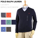 "Ralph Lauren Men's ""MERINO WOOL"" CUSTOM FIT V-neck Sweater US ポロ ラルフローレン Vネック メン..."
