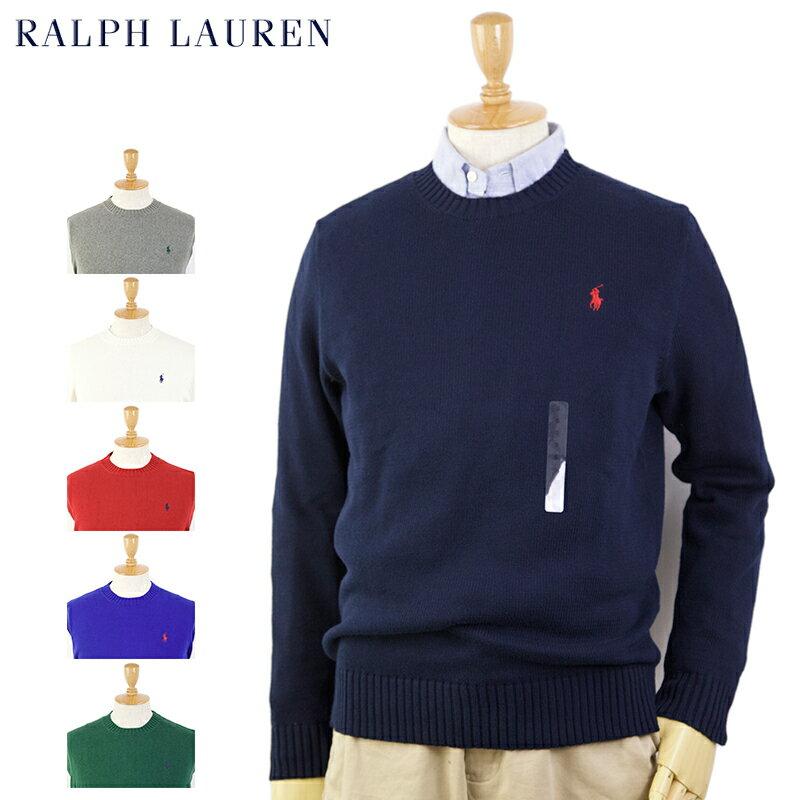 Ralph Lauren Men's Cotton Crew Sweater US ポロ ラルフローレン コットンのクルーネックセーター 売れ筋
