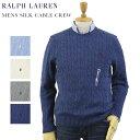 POLO Ralph Lauren Men 039 s Silk Cable Crew Sweater US ポロ ラルフローレン シルクのケーブルニット クルーネックセーター