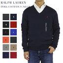 Ralph Lauren Men 039 s PIMA COTTON V-neck Sweater US ポロ ラルフローレン Vネック メンズ コットン セーター 売れ筋 (UPS)