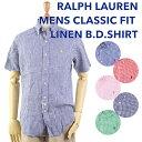 "Ralph Lauren ""CLASSIC FIT"" Linen s/s Shirts US ポロ ラルフローレン 半袖リネンシャツ 売れ筋"