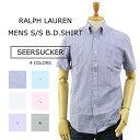 (5色)Ralph Lauren SEERSUCKER STANDARD FIT S/S B.D. Shirts US ポロ ラルフローレン シアサッカー ストライプ ボタンダウン 半袖シャツ スタンダードフィット 売れ筋 (UPS)