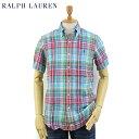 """Ralph Lauren S/S """"LINEN"""" B.D. Shirts US ポロ ラルフローレン リネン 麻 ボタンダウン 半袖シャツ"""