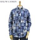 """Ralph Lauren Men's """"CUSTOM FIT"""" Patchwork Shirts US ポロ ラルフローレン カスタムフィット パッチワーク長袖ボタンダウンシャツ"""