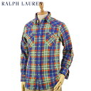 Ralph Lauren Men's l/s Flannel Western Shirts US ポ...