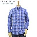 "Ralph Lauren Men's ""SLIM FIT"" Stretch Oxford B.D.Shirts Madras US ポロ ラルフローレン スリム..."