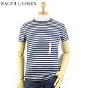 Ralph Lauren Men 039 s INDIGO Border Pocket T-shirts US ポロ ラルフローレン インディゴ染 ポケットTシャツ