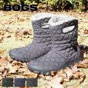 ショッピングスノー 【送料無料】 ショート ブーツ レディース 防水 ファー ボア あったかい スノーブーツ 雪 ぺたんこ シューズ 靴 BOGS ボグス Bモック キルト パフ B-MOC QUILT PUFF roybog71952