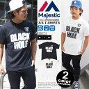 【レイダース Tシャツ】Majestic マジェスティック Tシャツ オークランド レイダース Tシャツ BLACK HOLE [NM01-...