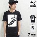 PUMA プーマ 半袖 Tシャツ BIG LOGO Tシャツ (puma tシャツ ホワイト ブラック ボックスロゴ 581386 2020年 新作) 【あす楽対応】 【メール便対応】