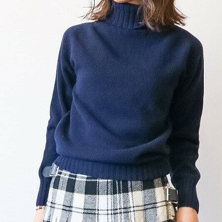 ARMEN(アーメン)/POLO NECK SADDLE SHOULDER PULLOVER -4色展開-