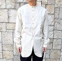 ショッピングペットシーツ 【20 SS】FRANK LEDER(フランクリーダー)/ VINTAGE BEDSHEET SHIRT STAND COLLAR -(80)NATURAL-