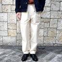 ショッピングペットシーツ 【20 SS】FRANK LEDER(フランク リーダー) /VINTAGE BEDSHEET DRAW STRING TROUSERS -NATURAL-