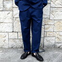ショッピングペットシーツ 【20 SS】FRANK LEDER(フランク リーダー) /BALTIC BLUE DYED VINTAGE BEDSHEET 2TUCK TROUSERS -BLUE-