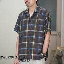 ショッピングINDIVIDUALIZED INDIVIDUALIZED SHIRTS(インディビジュアライズドシャツ)/ Check Camp Collar Shirt S/S (AthleticFit) -BROWN CHECK- #IS1812119