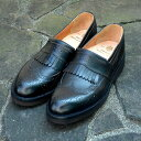 YUKETEN(ユケテン)/KILTIE WINGTIP SLIP ON -BLACK-