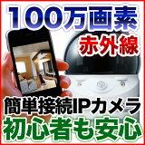 ネットワークカメラ 防犯カメラ iPhone iPad で見れる遠隔監視カメラ   ペットモニター ベビーモニター【100万画素】 暗視 NTW-0715 CS-W70HDと同等性能 IPC-07wと同等性能 RD-4355と同等性能