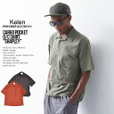 20%OFF SALE KELEN ケレン CARGO POCKET O/C SHIRT Shapley 半袖シャツ メンズ kl19ss セール