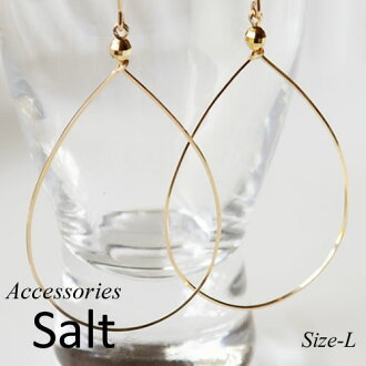 K14GF drop hoop earrings L size fs3gm