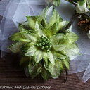 【ポイント10倍】コサージュ パーティー 卒園式 入園式 結婚式 髪飾り 花飾り 花 グリーン 緑 z 人気1ztg1